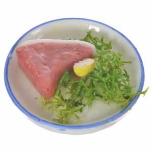 Piatto carne insalata in cera per figure 20-24 cm s2