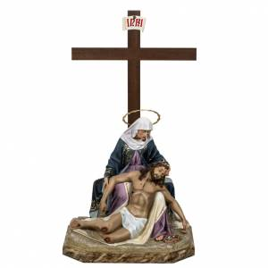 Pietà statue 50cm in wood paste, elegant decoration s1