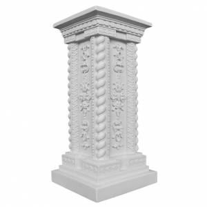 Reconstituted marble religious statues: Pillar in Carrara marble 23,62in