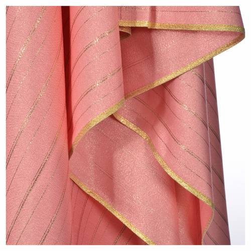 Pink Chasuble in pure Tasmanian wool with double twisted yarn s5