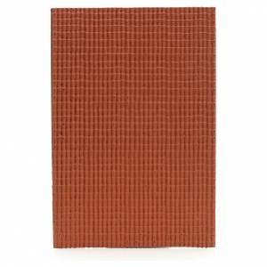 Plaque pour toit en petites tuiles rouges 50x35 cm s1