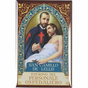 Religiöse Magnete: Platte Heilig Camillo de Lellis Gold