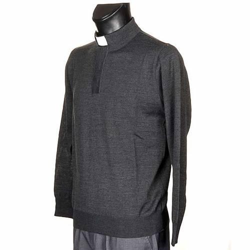 Polo clergy grigio scuro s2