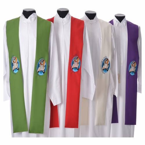 STOCK Pope Francis' Jubilee Big Stole with SPANISH machine embroided logo s1
