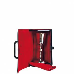 Calici Pissidi Patene metallo: Valigetta porta calice interno rosso