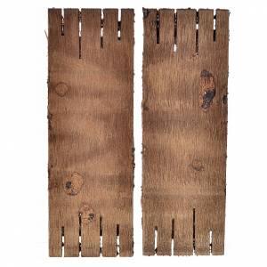 Porta in legno a 2 ante 12x9 cm presepi fai da te s2