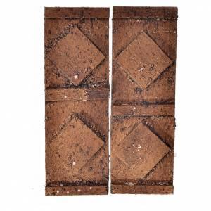 Porta legno 2 ante 12x9 cm presepe s1