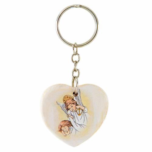 Porte-clé Coeur Anges 4 cm s1