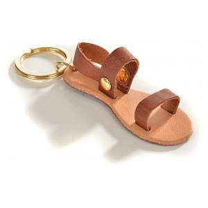 Porte-clés: Porte-clé sandale franciscaine cuir