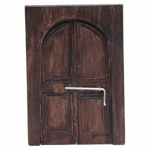 Porte en miniature crèche Napolitaine 11,5x8 cm s1