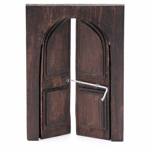 Porte en miniature crèche Napolitaine 11,5x8 cm s2