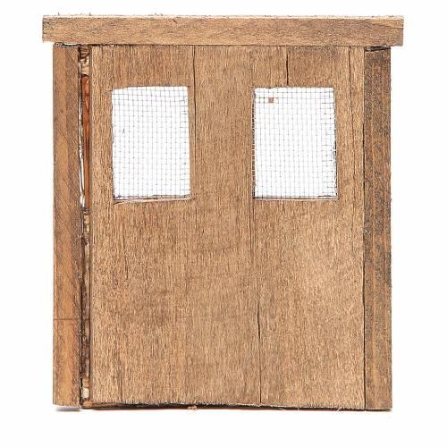 Porte pour crèche bois 13x11 cm s3