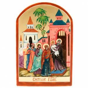 Icona sacra Presentazione di Gesù 6x9 Russia s1