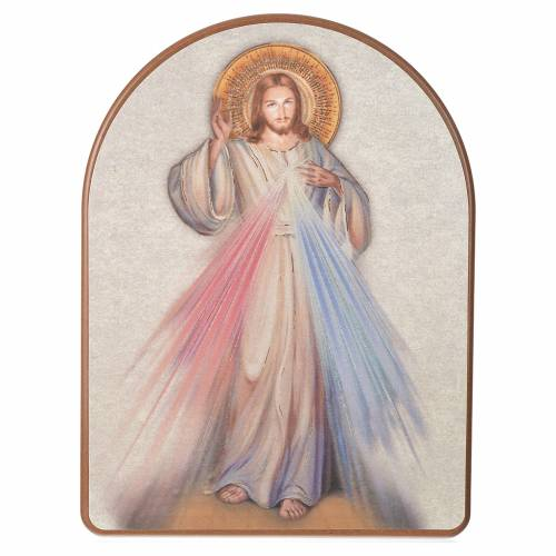 Print on wood, 15x20cm Merciful Jesus s1
