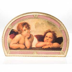 Print Raffaello's Angels, on wood panel s5