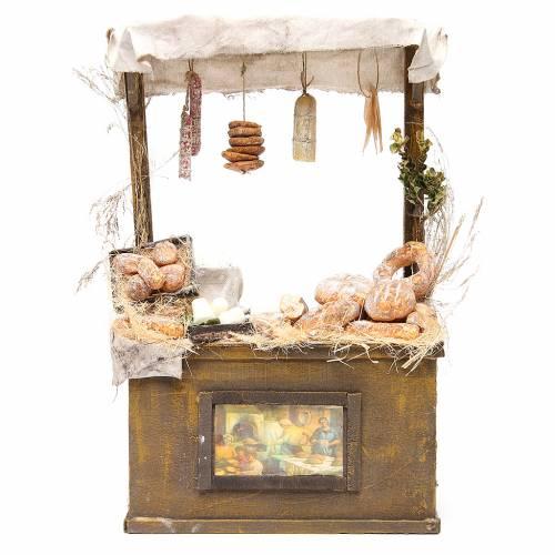 Puesto de mercado de panadero en cera 40x25x10,5 cm s1