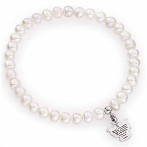 Pulseras AMEN: Pulsera AMEN perlas redondas Plata 925 5/6 milímetros.