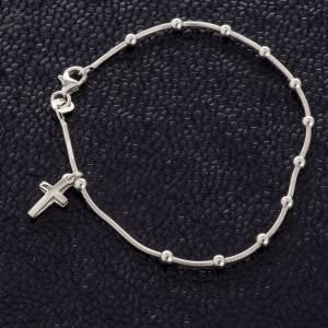 Pulseras de plata: Pulsera de plata 925 con la Cruz