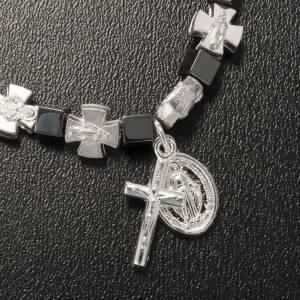 Pulsera hematites con cruz y Virgen Milagrosa s4
