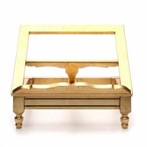 Pupitre de table doré à la feuille d'or s1