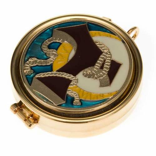Pyx with Tau and cord enamel decoration on the cover s1