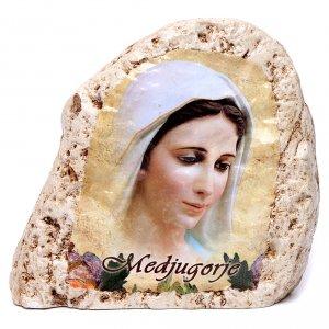 Quadretto da tavolo in gesso Madonna di Medjugorje s1