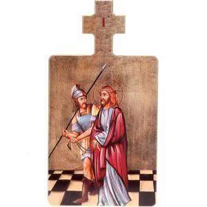 Via Crucis: Quadri Stazioni Via Crucis 15 pezzi legno