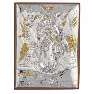 Quadro Madonna scioglie i nodi Argento dorato 8x11 s1