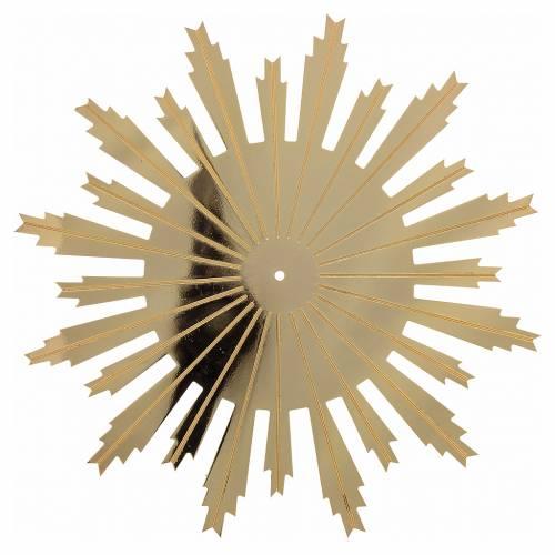 Raggiera ottone dorato raggi incisi 25 cm s1