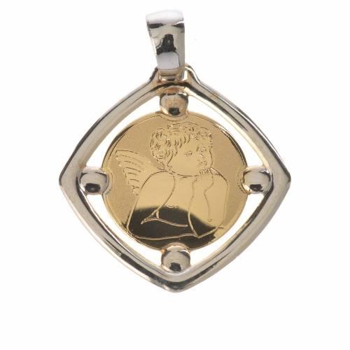 Raphael's cherub pendant in 18k bi-coloured gold 1,09 grams s1