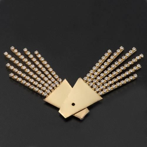 Rayos latón filigrana dorado con swarovski s2