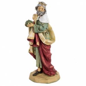 Statue per presepi: Re Magio bianco 52 cm presepe Fontanini