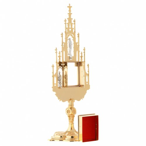 Reliquary, Gothic style in cast brass H51cm s5