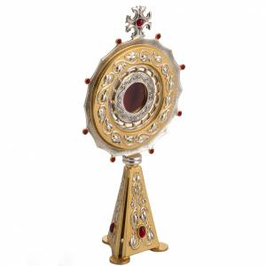 Reliquary in bronze with red stones H31,5 cm s4