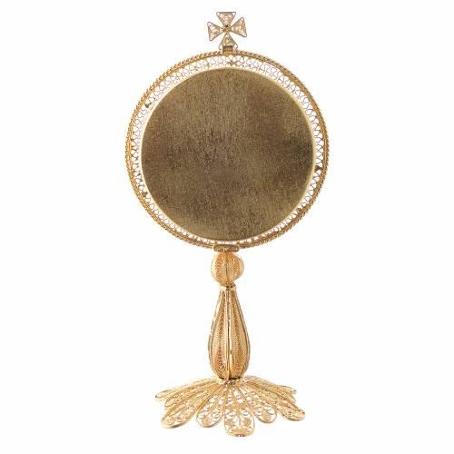 Reliquiario argento 800 dorato filigrana di altezza 13 cm s3