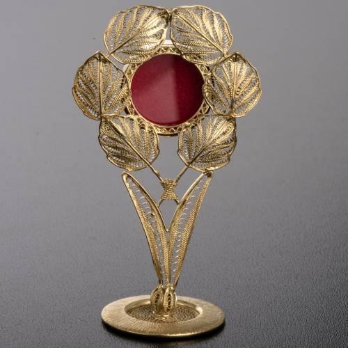 Reliquiario argento 800 filigrana foglie s3
