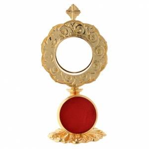 Reliquiario in ottone dorato h 21 cm s4