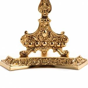 Reliquiario ottone fuso dorato con base s3
