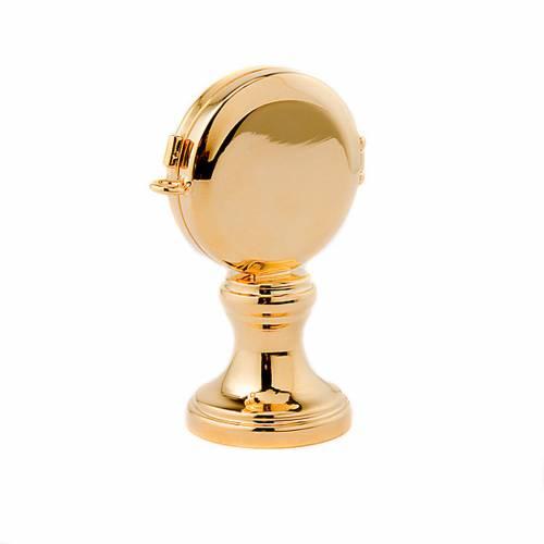 Reliquiario basetta ottone dorato s3