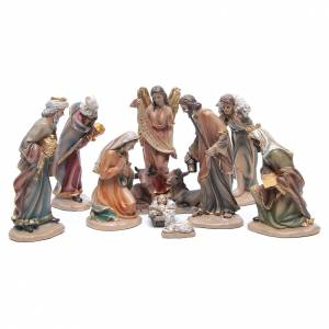 Resin and Fabric nativity scene sets: Resin nativity set measuring 20cm, 11 figurines in Classic Style