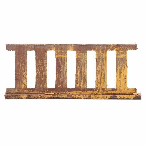 Ringhiera in legno 10x5 cm per presepe s1