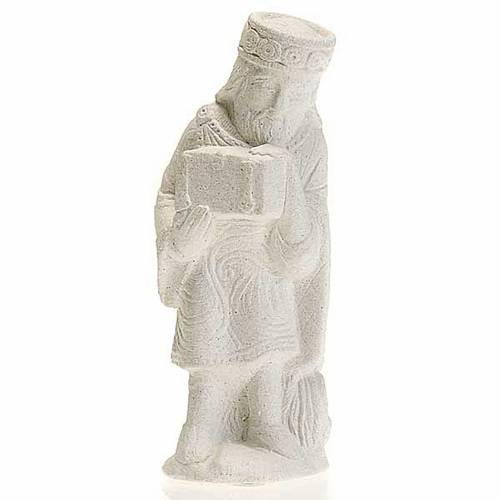 Roi Mage asiatique Crèche d'Automne pierre blanche 1