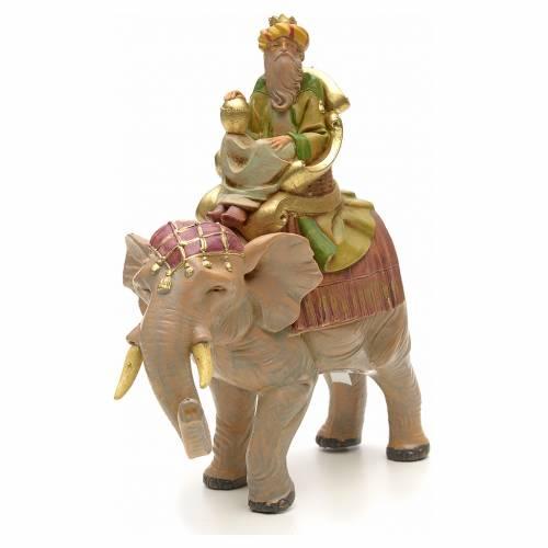 Roi Mage sur éléphante crèche Fontanini 12 s4