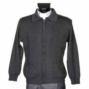 Pullover: Rollkragen Jacke dunkel Grau