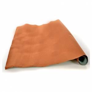 Fondos y pavimentos: Rollo papel marrón terciopelo cm. 70x50