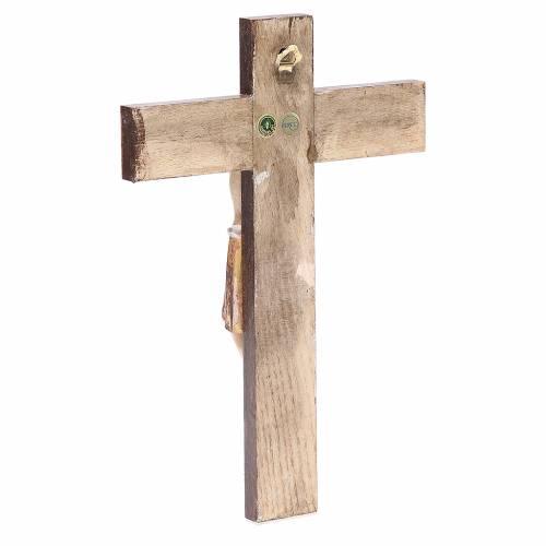 Romanesque crucifix, antique gold Valgardena wood 65cm s3