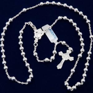 Rosari argento: Rosario collana Argento 800 grani 4 mm