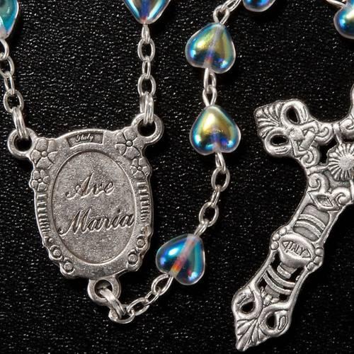 Rosario de vidrio corazón Virgen Milagrosa s3