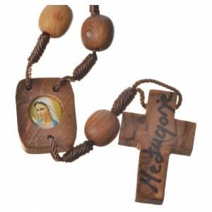 Bracciali, coroncine della pace, decine: Rosario decina Medjugorje legno d'olivo