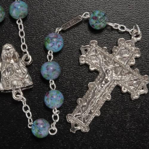 Rosario Ghirelli Madonna Lourdes verde fantasia 6 mm s2